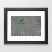 Trippy Pastel Palm Framed Art Print