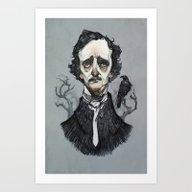 Art Print featuring Mr. Poe  by Audrey Benjaminsen