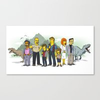Jurassic World Simpsonized Canvas Print