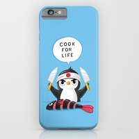 iPhone & iPod Case featuring Penguin Chef by Freeminds
