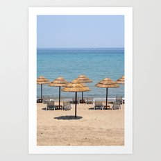 Beach Umbrellas, Zante Art Print