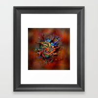 Abstract Wash Framed Art Print