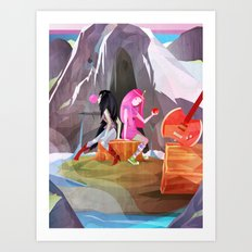 P-Bubbs and Marcy Art Print