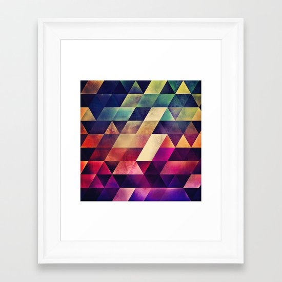 yvyr yt Framed Art Print