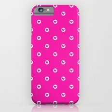 Little pink hearts iPhone 6 Slim Case