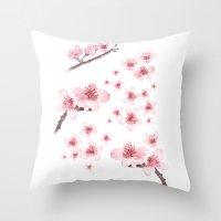 Sky blossoms Throw Pillow