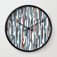 Autumn Lines Wall Clock