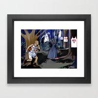 Jason Kidd Cheating Bask… Framed Art Print