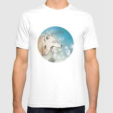 Scattered White Mens Fitted Tee SMALL