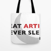 Great Artists Never Sleep Tote Bag