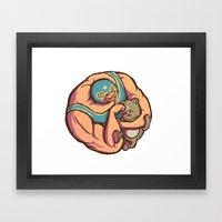 Baby Bully Framed Art Print