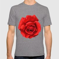 Rose Mens Fitted Tee Tri-Grey SMALL