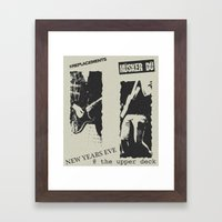 New Year's Eve @ The Upp… Framed Art Print