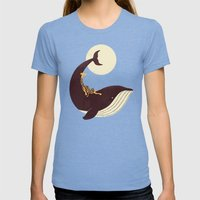 The Giraffe & The Whale Womens Fitted Tee Tri-Blue SMALL