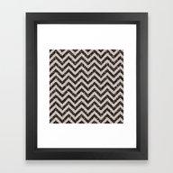 Framed Art Print featuring Sparkling Glitter Chevro… by Better HOME