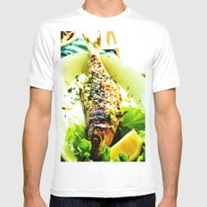 Lunch White Mens Fitted Tee SMALL