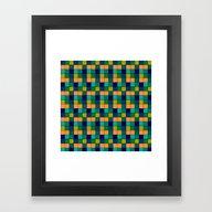 Framed Art Print featuring Gridlock by Hazel Bellhop