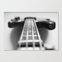 The Bass Guitar, Musical Instruments Canvas Print