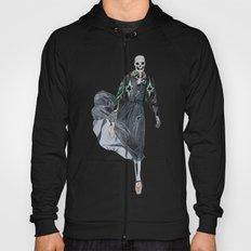 leather & ballet skeleton Hoody