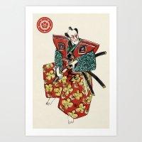 Slice & Dice - Samurai Art Print