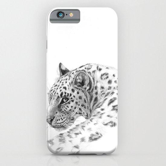 Leopard - Glance back iPhone & iPod Case