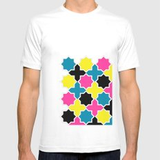 CMYK IV White Mens Fitted Tee SMALL