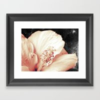 Space Flower Framed Art Print