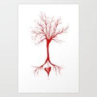 Bleed Love Art Print