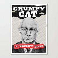 GRUMPY AS THE CAT  Canvas Print