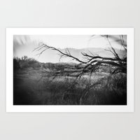 Landscape with Tree Art Print