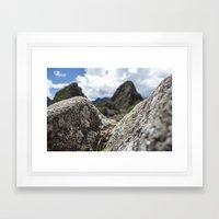 Mini Machu Picchu Peru  Framed Art Print