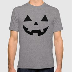 Happy Jack-O-Lantern Mens Fitted Tee Tri-Grey SMALL