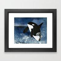 Killer Whale Orca Framed Art Print