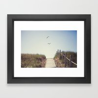Gull Greetings  Framed Art Print