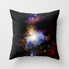 Orion NebulA Colorful Full Image Throw Pillow