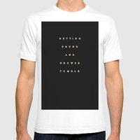 getting drunk and browse tumblr Mens Fitted Tee White SMALL