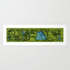 Central Park, A View From Above Art Print