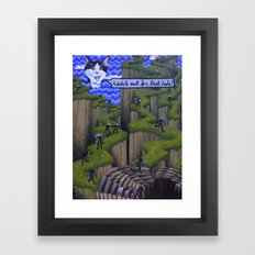 Watch out for that hole! Framed Art Print