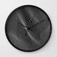 Minimal Curves Black Wall Clock