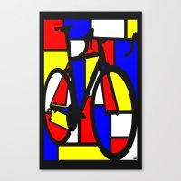 Mondrianesque Road Bike Canvas Print