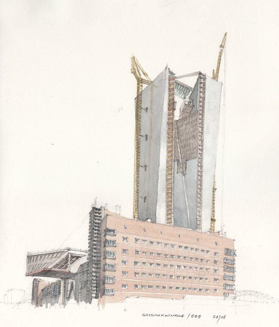 Großmarkthalle / EZB Art Print