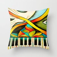 Piano- Behold Throw Pillow
