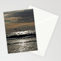 Dark foray over the sparkling Danish Sea Stationery Cards