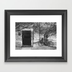 Door & Bicycle Framed Art Print