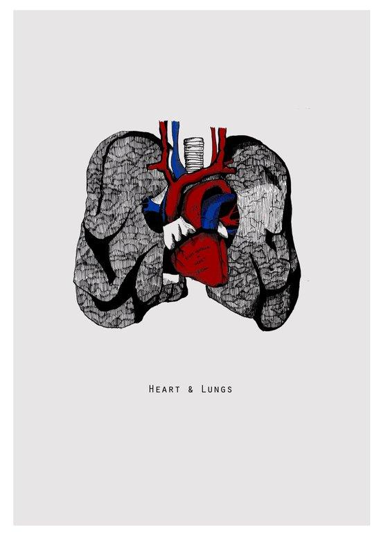 Heart&Lungs Art Print