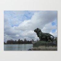 Retiro Park Lion Canvas Print