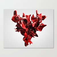 Twist Of Heart - Red Canvas Print