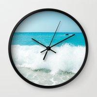 Minimal Turquoise Ionian… Wall Clock