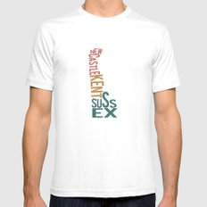 Delaware by County White SMALL Mens Fitted Tee