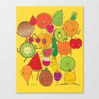 Veggies Fruits Canvas Print